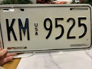 USA Collectors Vintage American Number Plate