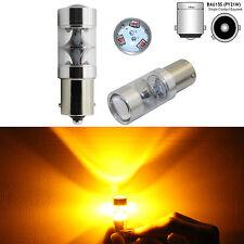 2x 45W Bau15s 150° 7507 PY21W High Power LED Turn Signal Light Bulb Amber Yellow