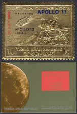 Yemen 1969 ** mi.a1010 a espacio Space Apollo 13, oro foil en Folder [u621]