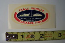"vintage drag racing decal "" E S T A Safety Park Cicero NY"""