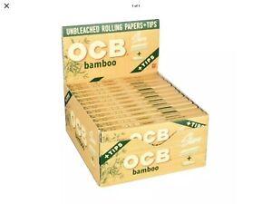 24 Ct OCB Bamboo King Slim W/ Tips.  NEW !!