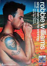 "Robbie Williams ""Sing When Your Winning"" Australian Promo Poster - Take That"