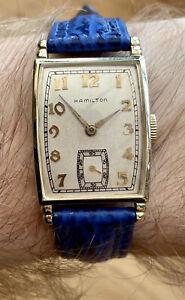 Vintage 1941 Men's HAMILTON *The Myron* 18k Gold Numerals, Cal-980. Rare!