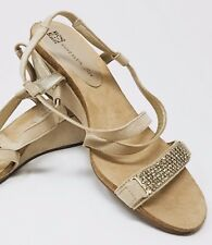 Anne Klein Women's Strap Sandals. Color:Beige, Size: 7 1/2 M