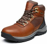 NORTIV 8 Men's Mid Ankle Waterproof Hiking Boot Military Tactical Leather Boots