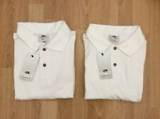 2 X MENS / LADIES FRUIT OF THE LOOM POLO SHIRTS / CASUAL / SPORTS WHITE SIZE XL