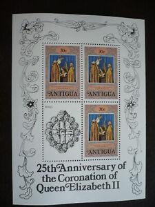 Stamps - Antigua - Scott# 509 - Souvenir Sheet