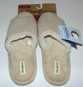 ~NWT Women's DEARFOAMS No Sweat Comfort Slippers! Size XL 11-12 Super Cute FS:)~