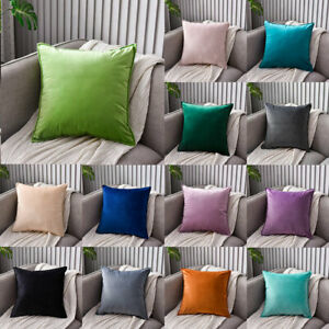 Square Geometric Throw Pillows Cover Soft Velvet Cushion Cover Case Home Decor