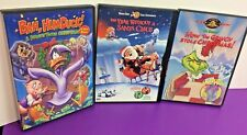Lot of 3 Kids Christmas DVD Movies Grinch Bah Humduck Year Without Santa Claus