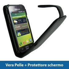 Nero Vera Pelle Custodia per Samsung i9000 Galaxy S Pink Case Cover Protezione