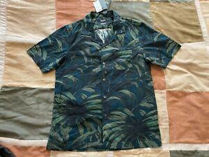 Todd Snyder x Albiate olive palm floral vacation souvenir camp shirt M mens NEW