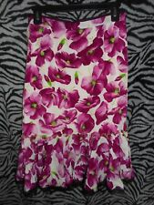Dolce & Gabbana Made in Italy Vintage Floral Print 100% SILK Size 42
