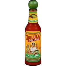 NEW CHOLULA HOT SAUCE CHILI LIME 5 FL OZ IMPORTED FROM MEXICO FREE SHIPPING