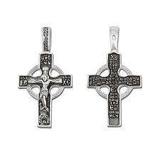 STERLING SILBER KREUZ 925 Orthodoxe Anhänger russisch 4700 крест серебрянный