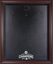 2016 World Series Chicago Cubs Champions Baseball Jersey Display Case - Mahogany