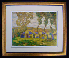 "A.Y. Jackson, Group of Seven ""Camouflaged Huts"" in Gold frame"