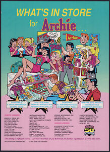 ARCHIE Licensing__Original 1991 Trade AD / poster__Jughead_Comics_Riverdale High