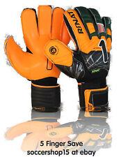 Rinat goalkeeper gloves(green/orange Kids size 5) Supreme 2.0- 5 finger save