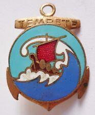 insigne de Marine torpilleur TEMPETE WWII 1940 Augis ORIGINAL FRENCH NAVY BADGE