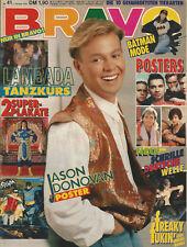 Bravo-Heft Nr.41 aus dem Jahr 1989 / Jason Donavan / Batman Poster / TOP