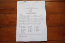 1985 Fascimilie Eastern Region HST Unit Diagrams Railway Engine Workings