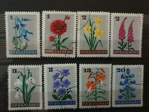 Bulgaria 1966 Flowers. 8 stamp set CTO