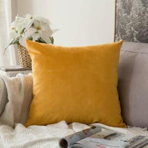 Velvet Soft Soild Decorative Square Throw Pillow Covers Cushion Case For Sofa