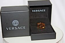 "Versace Gold Tone Greco Ring Men""s Size Us 11   27"