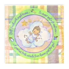 PRECIOUS MOMENTS Baby Shower SMALL NAPKINS (16) ~ Party Supplies Beverage Cake