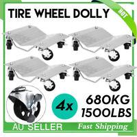 Wheel Dolly 4 Pcs PU Castors Vehicle Positioning Jack 1500Lbs/Pc Car Dollies Kit