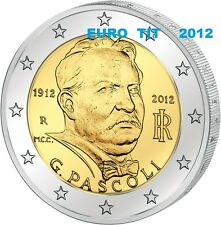 2 €  ITALIE  COMMEMORATIVE  2012   PASCOLI   1  X  PIECE  NEUVE   /   Disponible