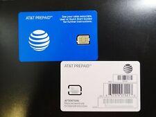 New Blue At&T Prepaid 4Ff Nano 6944A Sim Card Talk ,Text & Data See Photo