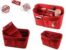Felt Fabric Purse Handbag Organizer Bag-Multi Pocket Bag in Bag Insert Bag,Mediu