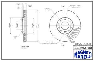 Disc Brake Rotor-SE Front Magneti Marelli 1AMVR10338