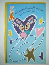 "American Greetings~""WISHING A HAPPY ANNIVERSARY TO THE NICEST PAIR""GREETING CARD"