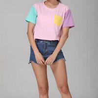 Women T-Shirt Tops Blouse Short Sleeve Kawaii Clothing Cute Harajuku Pastel Pink