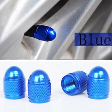 4pcs Universal Blue Bullet Shaped Auto Car Motorcycle Wheel Tire Valve Cap Seal