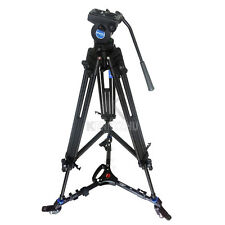 Pro Video Camera Camcorde Fluid Drag Tripod Benro KH-25N +3 Wheels Support Dolly