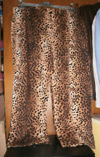 Pantalon motif léopard 1 JEAN-MARC PHILIPPE - Taille 8 (54/56) - COMME NEUF !!!