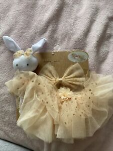 Newborn Photography Tutu Set 0-12 Months With Bunny Elly & Emmy Peach