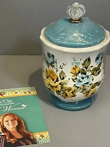 """The Pioneer Woman Rose Shadow Canister with Acrylic Knob, 8.25"""" BNIB"""