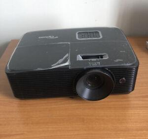 Optoma H184X DLP 3D Projector WXGA 1280 x 800 3600 Lumens Black 8 Hours Used!