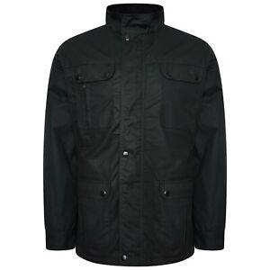 DeMina Men's Biker Jacket Water-resistant fabric WaxEffect RRP £99.99 2 colours!