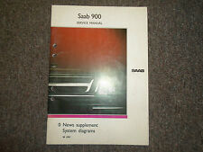1991 Saab 900 0 News Supplement System Diagrams Service Manual FACTORY OEM