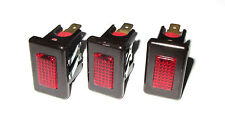 3 Pack - Red Light Indicator, 125VAC, 3/8W, Panel Mount Neon Bulb Lamp .325 Watt