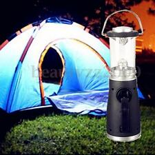 4 LED Wind Up Rechargeable Hand Crank Bright Night Lantern Tent Light Lamp Home