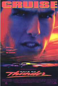 Days of Thunder (1990) Movie Poster, Original, SS, Unused, NM, Rolled