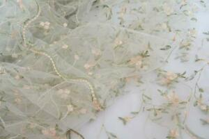 Lace Fabric Small Flowers Embroidery Lace Fabric For Dress Bridal Veil By 1 Yard