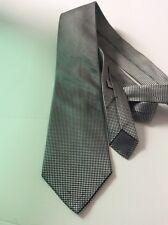 Charvet Tie Silk Black White Gingham Paris France Necktie Formal